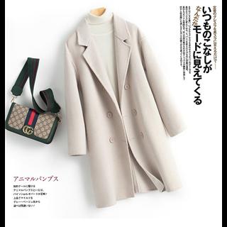 100%纯羊毛大衣女装2020秋冬新款时尚韩版中长款双面羊绒毛呢外套