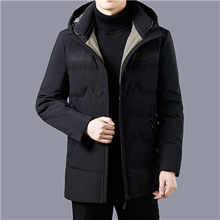 羽绒服男2020年新款冬天外套中长款男休闲爆款