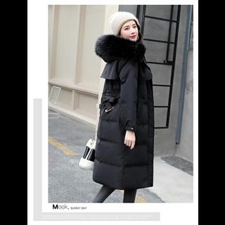 2020冬装新款加厚中长款棉衣外套韩版宽松大毛领棉袄