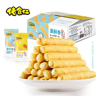 佬食仁蛋卷酥,全麦吐司面包,350g/箱 一箱10包,9.9包邮