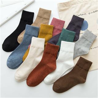 【24双/12色 59.9元】男袜 女袜新款复古ins潮个性中筒袜纯色 中性袜