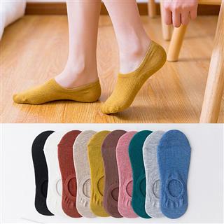 【10双/10色 19.9元】隐形船袜糖果色硅胶防滑浅口森系纯色袜 男女袜