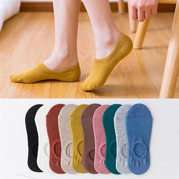 【10双/10色 22.8元】隐形船袜糖果色硅胶防滑浅口森系纯色袜 男女袜