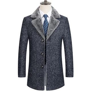 毛呢大衣男2020冬季新款商务男士中长款呢子大衣修身翻领羊毛外套