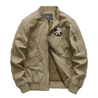 新款棒球服男秋季复古工装舒适外套空军飞行员夹克军装棒球服