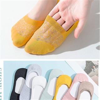 【29.9元/10双/9色】短袜浅口船袜薄款纯色袜底ins潮硅胶防滑脱隐形袜