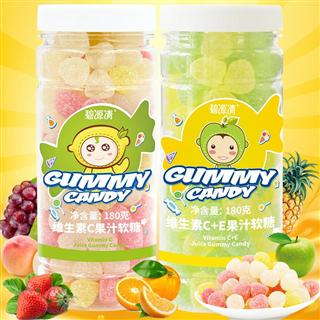 【欢度元宵】2瓶装碧源清vc+维C加E果汁软糖360g