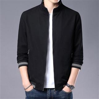 138包邮外套男士2021新款韩版潮流休闲春季衣服纯棉立领上衣棒夹克潮