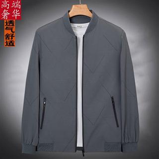春秋季夹克男装中青年男士外套韩版休闲立领茄克衫上衣潮流