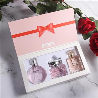 心语三件套礼盒装香水高档玫瑰花香调清新持久淡香水