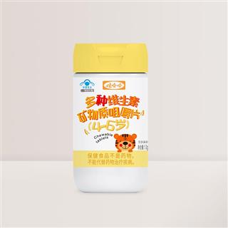 娃哈哈 多种维生素矿物质咀嚼片(4-6岁)1g*60片