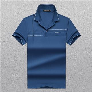 2021新款短袖t恤男士丝光棉夏季薄款宽松翻领polo衫