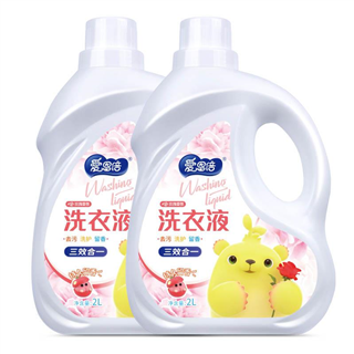 【秒杀】爱恩倍玫瑰香氛洗衣液持久留香味香氛型促销家庭实惠装 2L*2桶