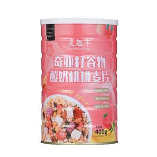 奇亚籽谷物酸奶桃桃麦片即食酸奶果粒麦片营养