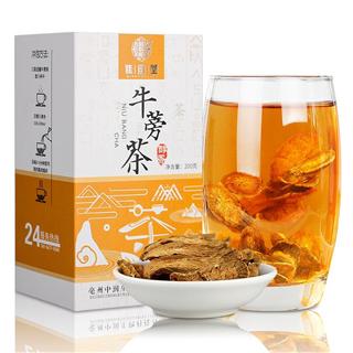 谯韵堂牛蒡茶200g大片盒装蒡根泡茶压煮泡牛蒡根茶