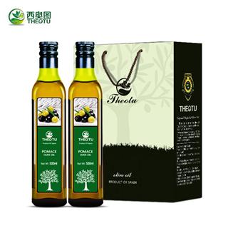 西奥图西班牙原装进口橄榄油食用油500ml*2瓶礼盒装