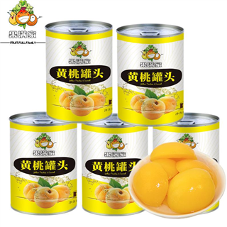 (6瓶装)黄桃罐头425g/瓶装水果罐头(偏远地址不发)