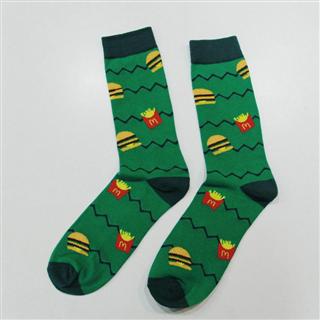 麦当劳定制款 时尚长筒棉袜 男女袜 吸汗透气 少量库存 偏远地区不发货